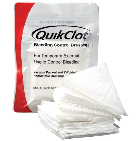 QuikClot®  Bleeding Control Dressing® (3-inch x 4-yard z-folded)
