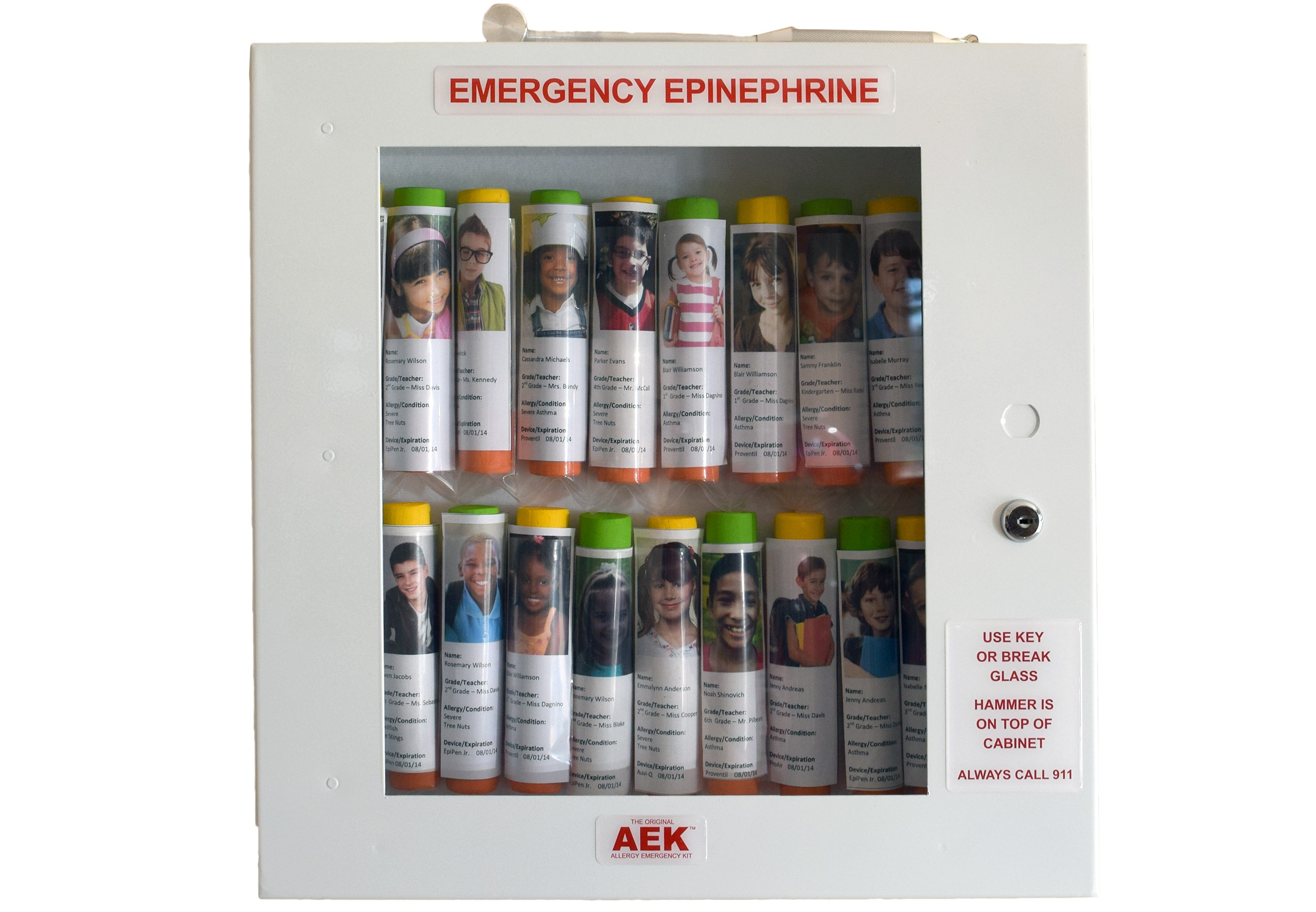 16 Unit School Nurse's Office Epinephrine Cabinet