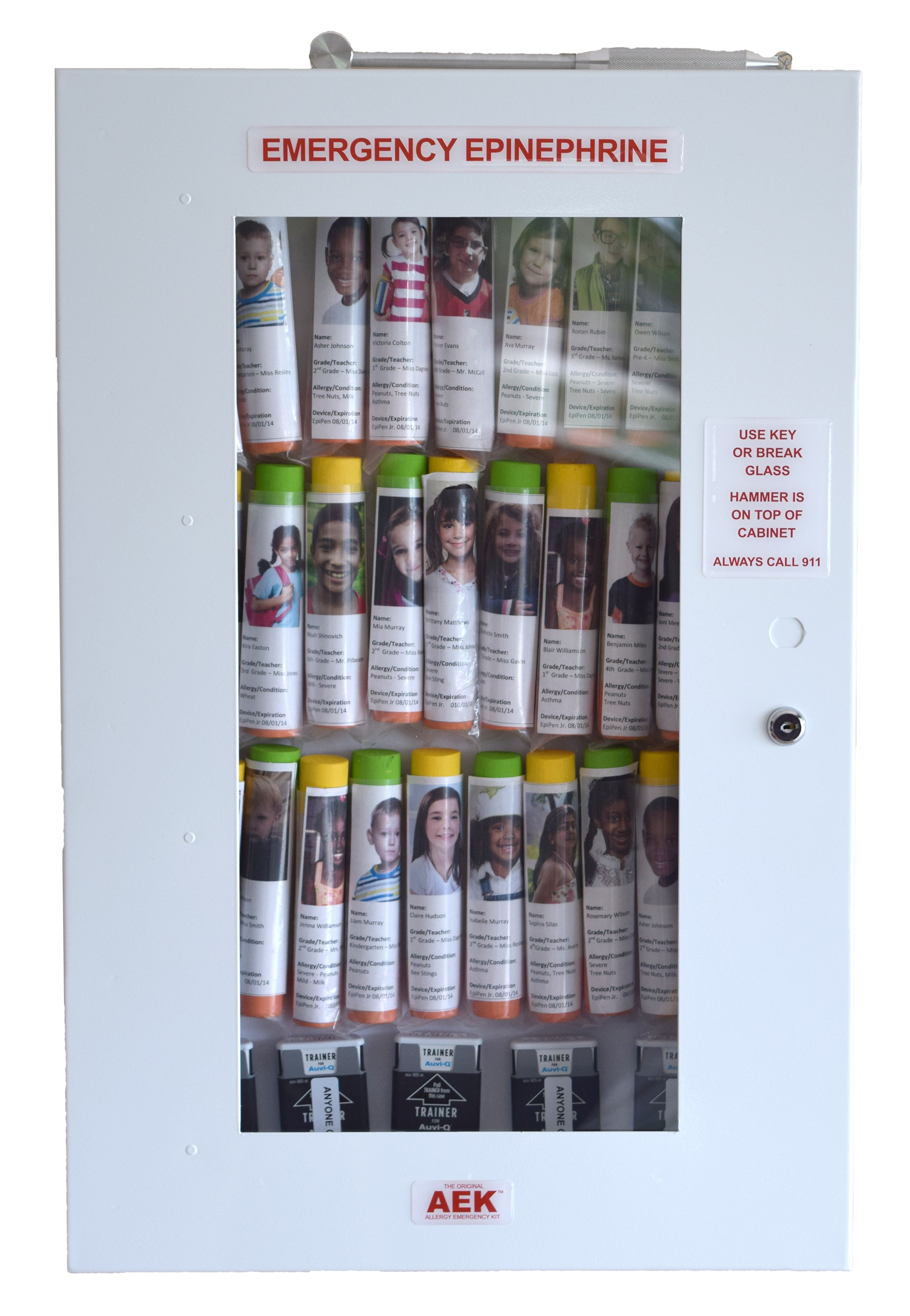 32 Unit School Nurse's Office Epinephrine Cabinet