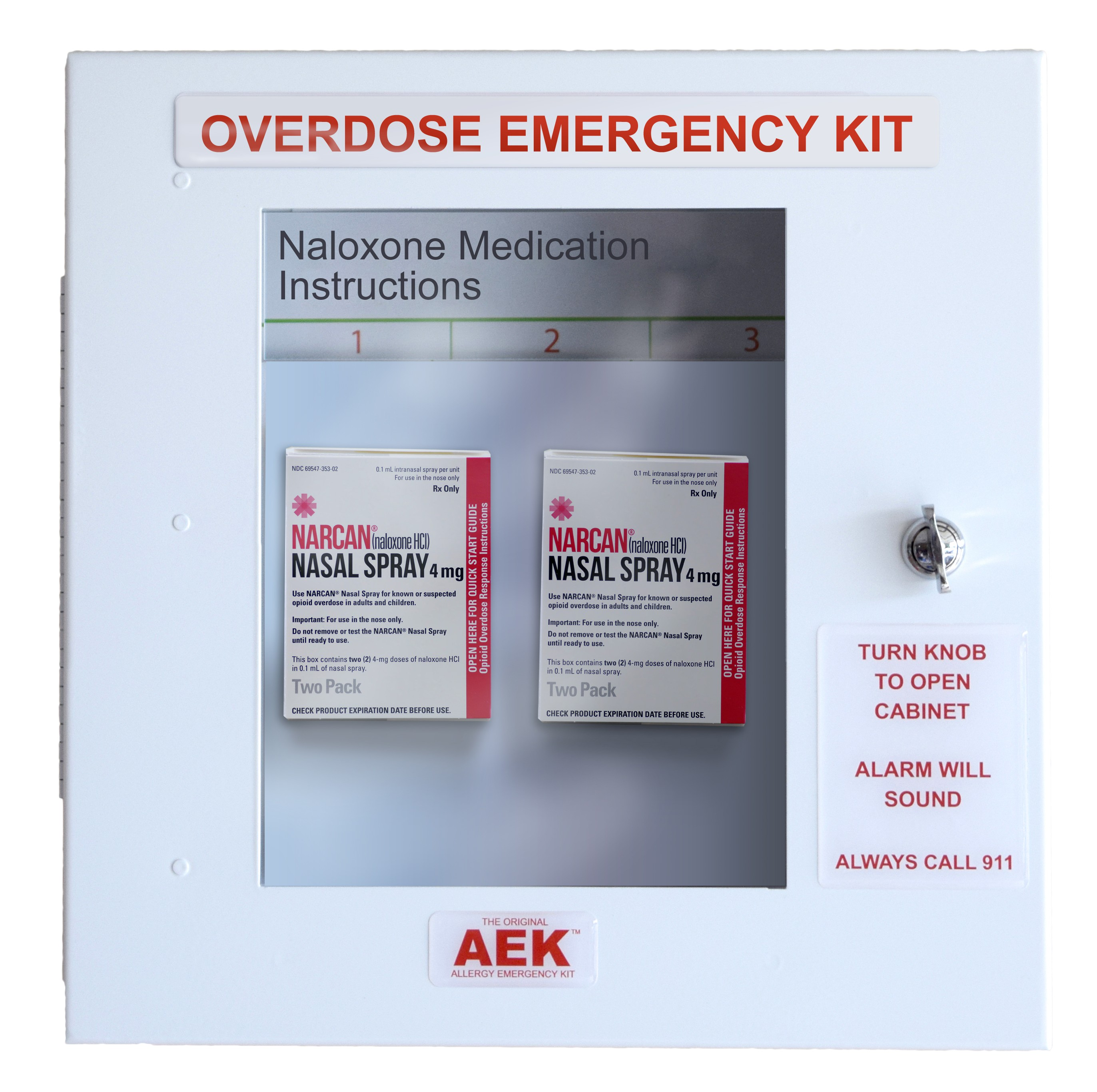 unlocked narcan cabinet