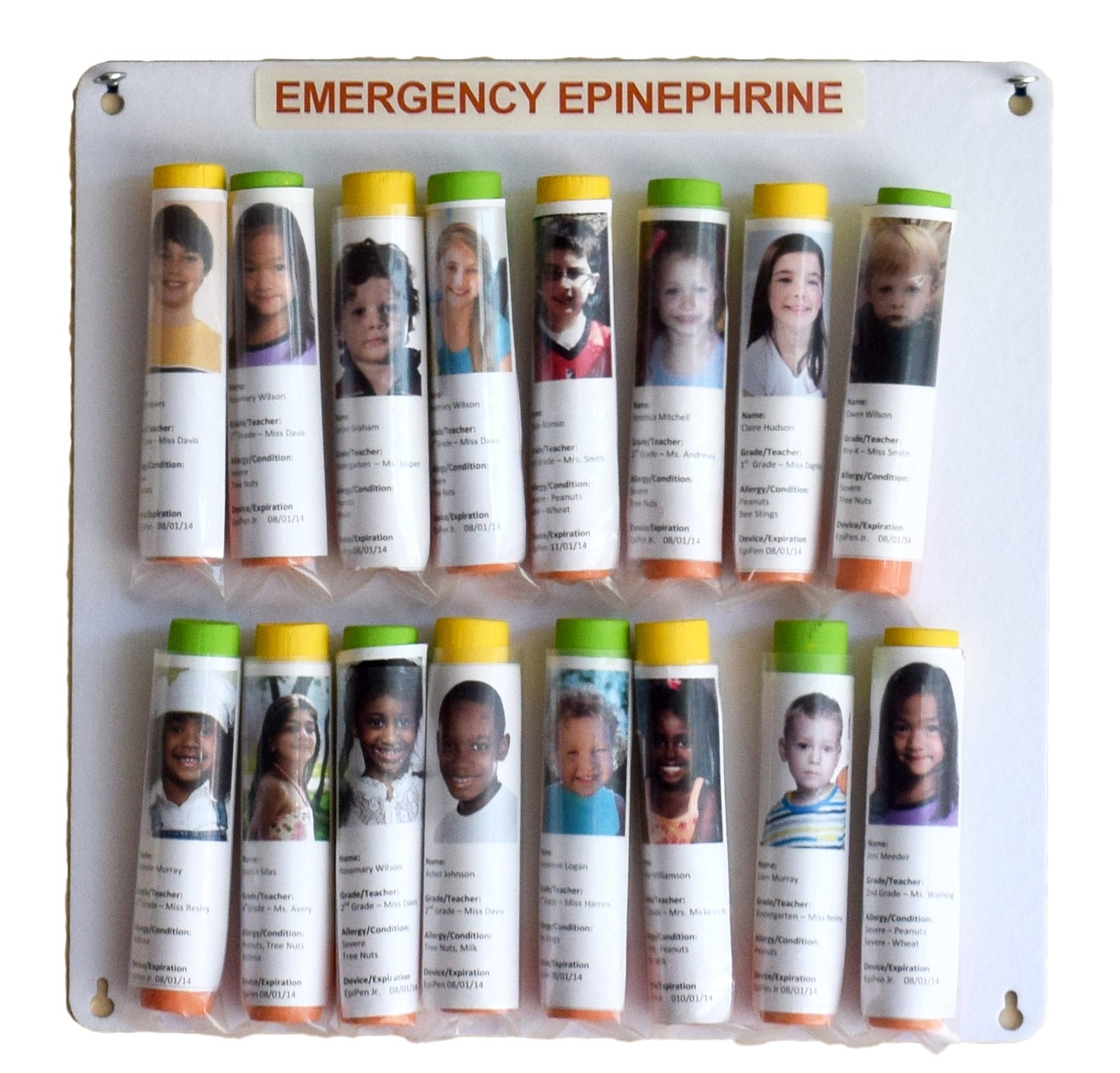 16 Unit Epinephrine Storage Panel Wall Unit