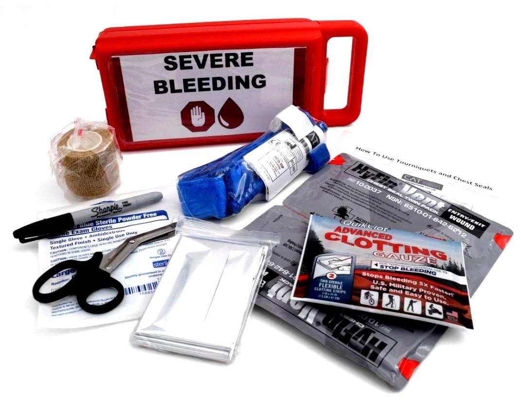 Severe Bleeding Kits - Includes Complete Texas Kits