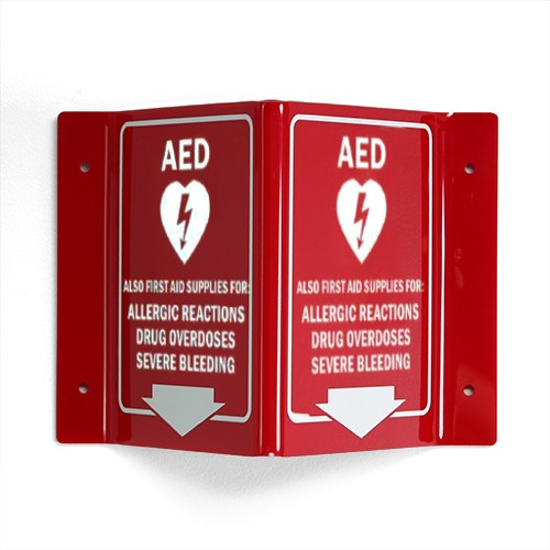 Sign for Allergy/Opioid/Bleeding/AED Combination Cabinet