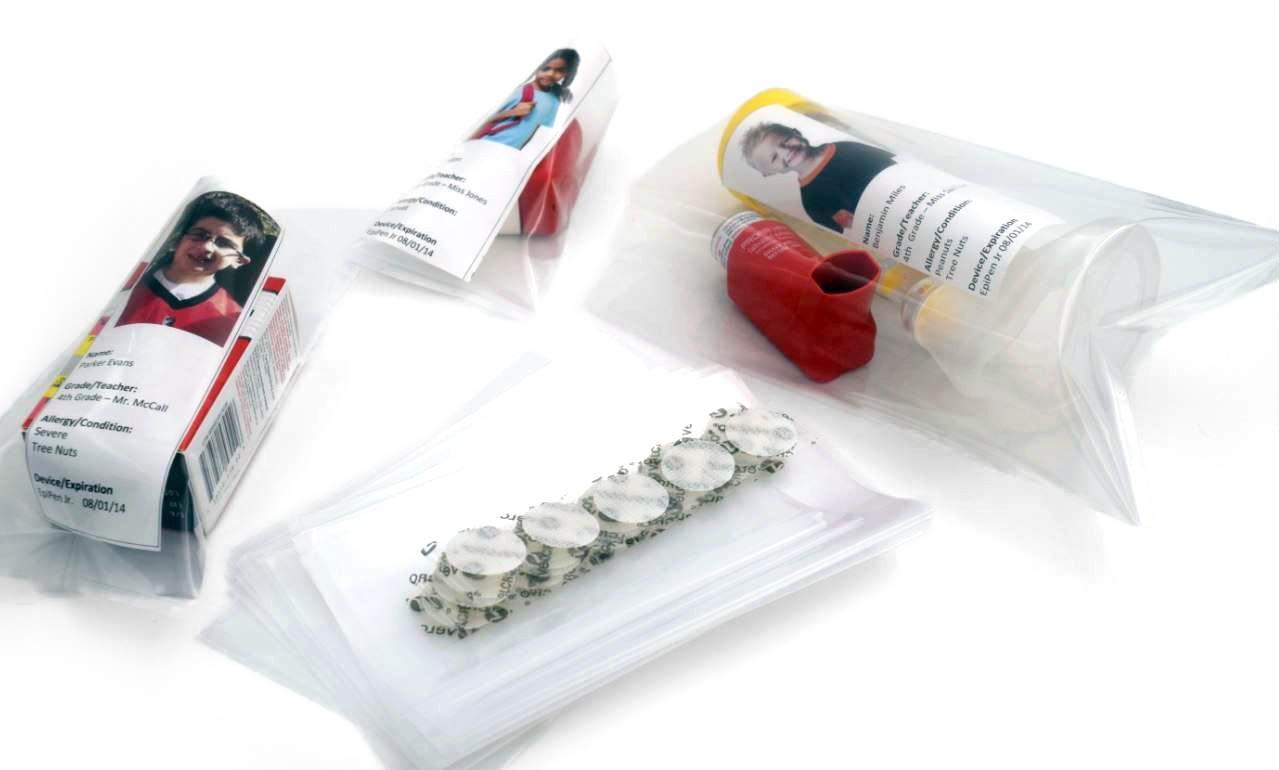 Nurse's Office 20-Unit Inhaler Polybag/Velcro Refill Kit